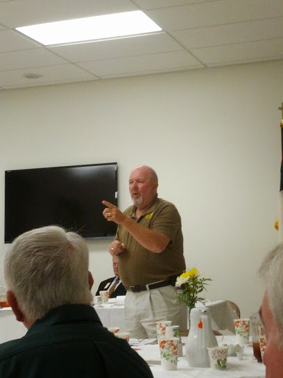 Lion Wayne Magoon from Waldorf Lions Club gives a presentation on Lions Camp Merrick